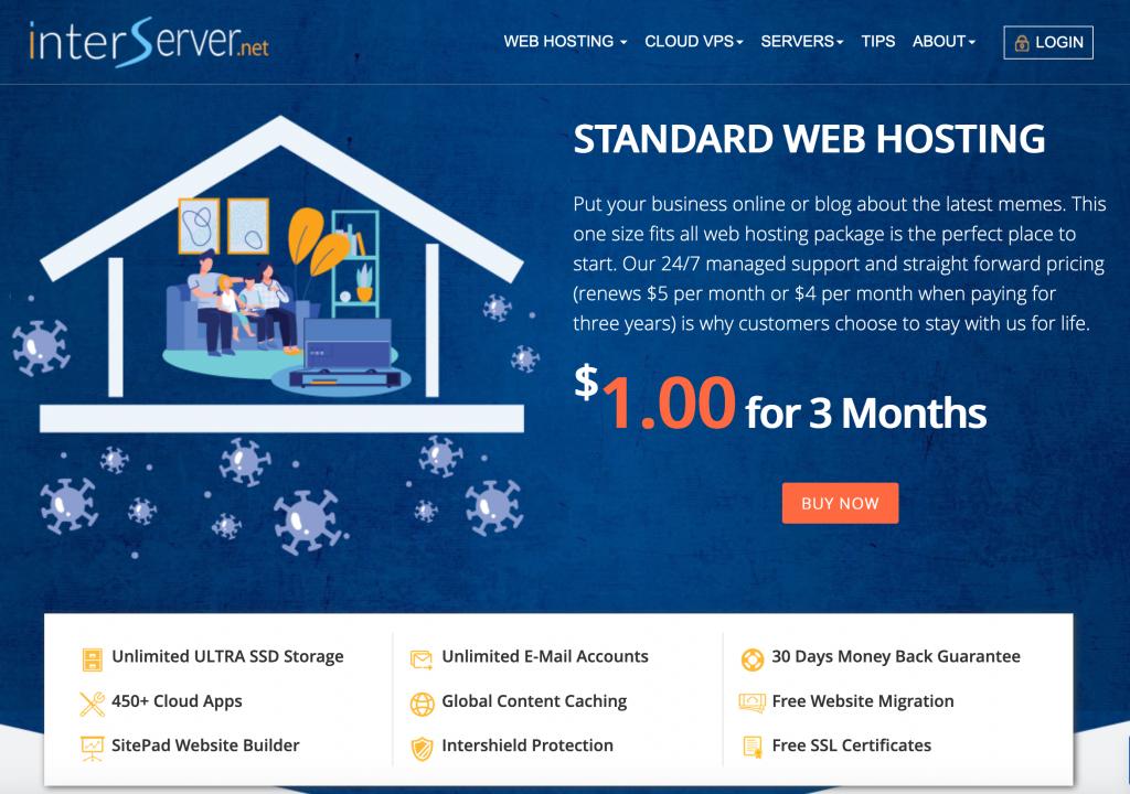 interserver web hosting offer